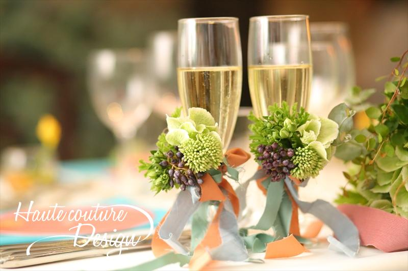 Champagne glass decoration