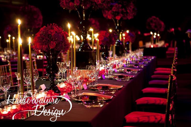 Wedding receotion decoration